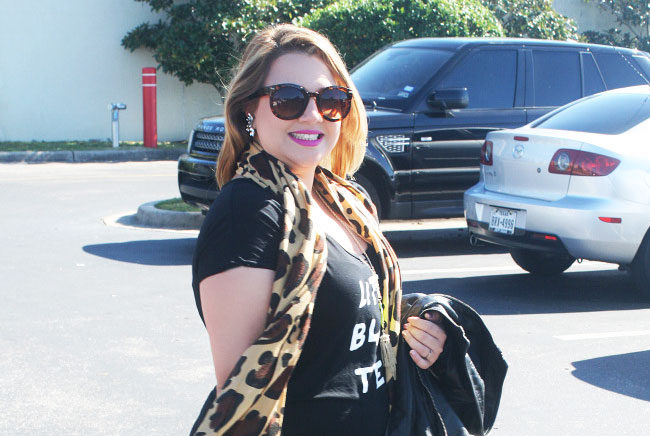 Black and Leopard Outfit