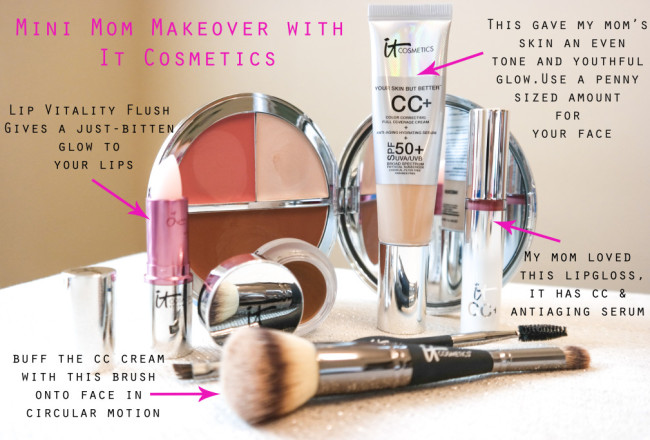 It Cosmetics makeover with Mom