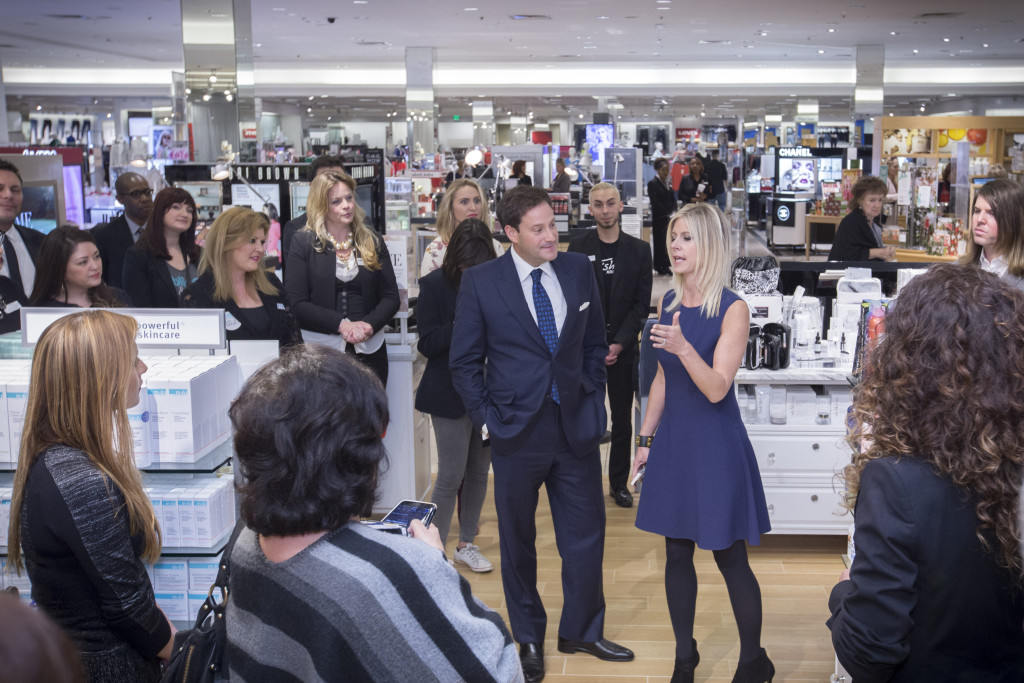 Barry and Marla Beck, Bluemercury Founders, greet customers at Macy's Memorial City mall in Houston on Wednesday January 20, 2016.(Michael Stravato/AP Images for Macy's)