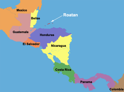 roatan-honduras-on-a-map