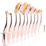 Rosegold Oval Brush Set
