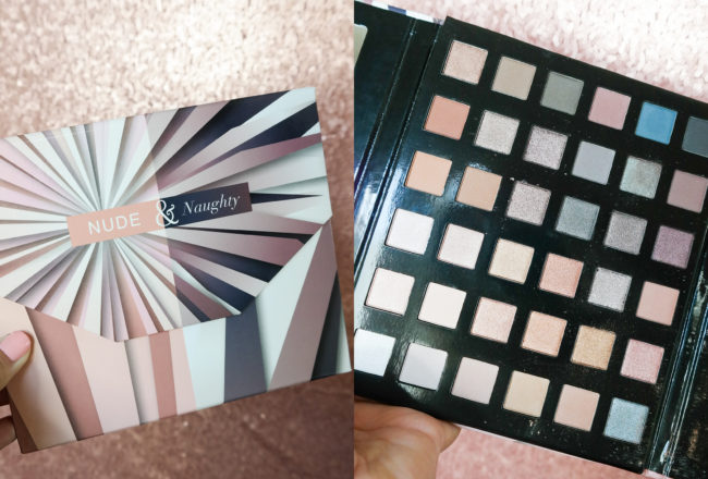 The Luminess Air Nude and Naughty Eye-Shadow Palette